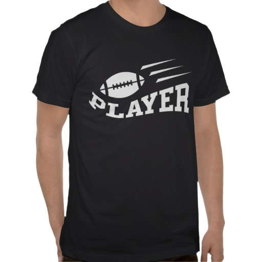 Cool tshirt for football players featuring a ball bouncing on the text player