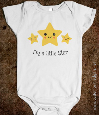 Cute romper for little boys and girls with kawaii style stars