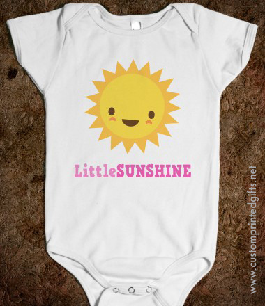 Little sunshine infant one piece with cute kawaii style sun character