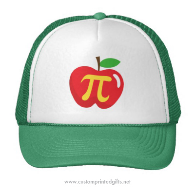 Apple pie funny pi day cap trucker hat