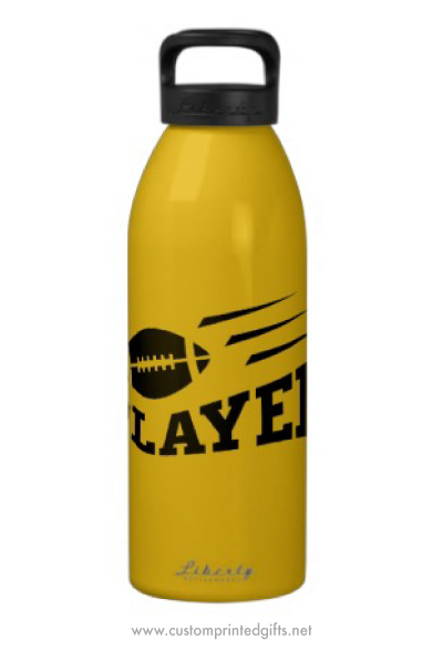 Footbal player water bottle