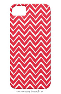 Red whimsical zigzag chevron pattern iPhone 5 case