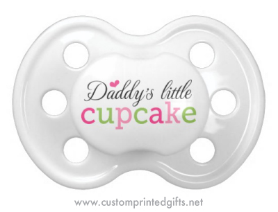 Daddies little cupcake pacifier dummy for baby girls