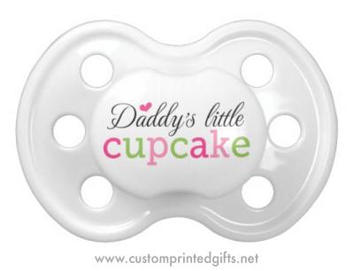 Daddies little cupcake pacifier dummy for baby girls