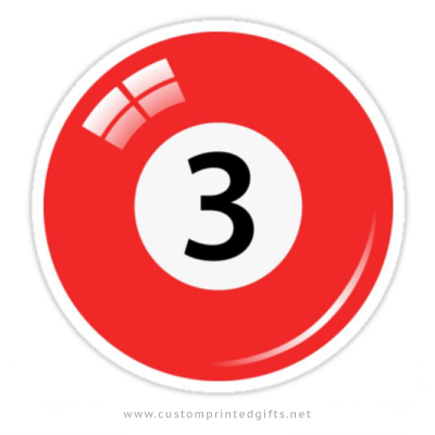 Billiard ball number 3 sticker
