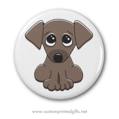 cute brown puppy dog with big begging eyes fridge or
