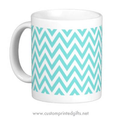 Chic chevron pattern custom printed mug