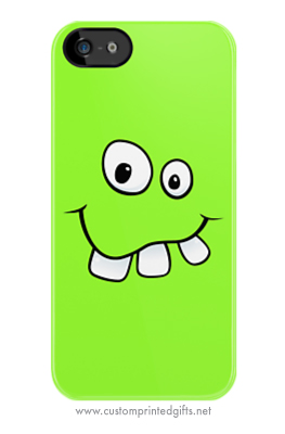 Goofy smiley face with big teeth iphone case