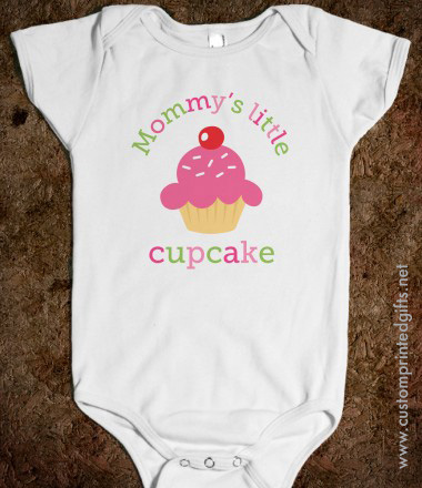 Mommys little cupcake cute baby one piece romper