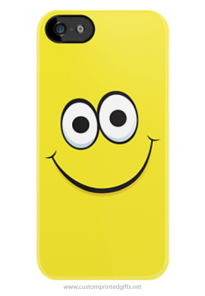 Yellow happy smiley face cartoon funny iPhone case