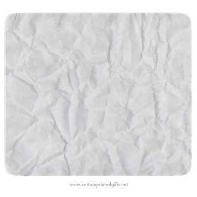 Crinkled crumpled creased and folded white paper novelty cutting board