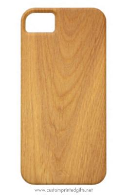 Elegant oak wood photo custom iPhone 5 case