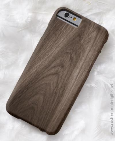 Elegant dark oak wood grain wooden texture iPhone case